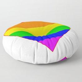 LGBT Rainbow Colors Heart Floor Pillow