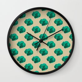 Tulip_Flora_Promise Rose repeat pattern Wall Clock
