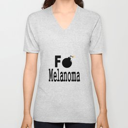 F Bomb Melanoma Unisex V-Neck