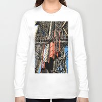 eiffel Long Sleeve T-shirts featuring Eiffel by Mario Sa