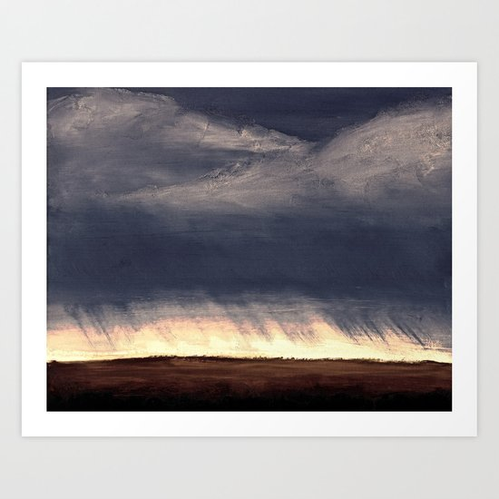 Storm Over Saskatchewan Fields Art Print