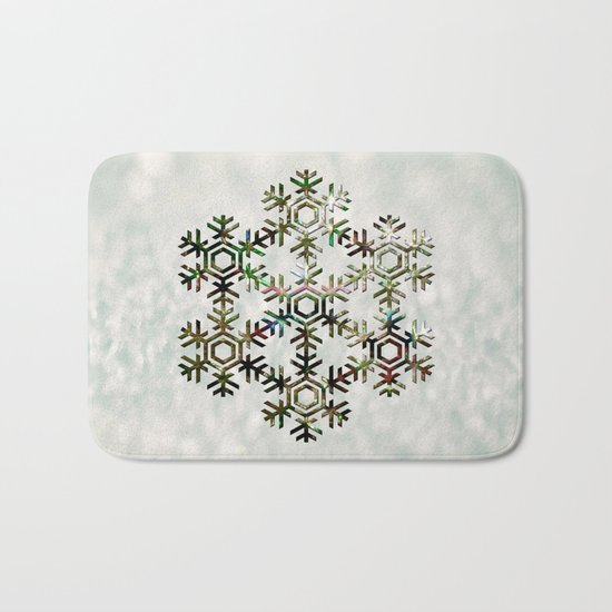 The Flower of Ice Bath Mat