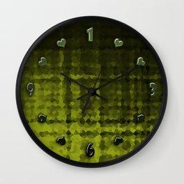 Black olive mosaic Wall Clock