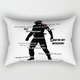Bucky Barnes Quotes Rectangular Pillow
