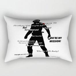 Bucky Barnes Quotes Rectangular Pillow