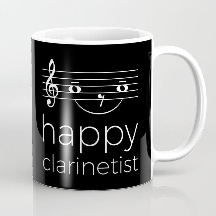 Happy clarinetist (dark colors) Coffee Mug