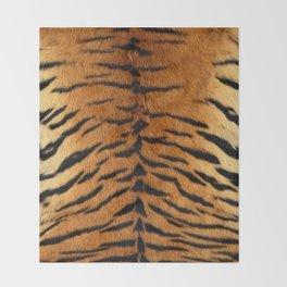 Faux Siberian Tiger Skin Design Throw Blanket