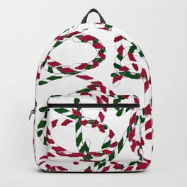 Abstract Candy Cane Pattern Backpack