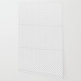 Minimal - Small black polka dots on white - Mix & Match with Simplicty of life Wallpaper