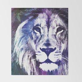 Purple Lion Throw Blanket