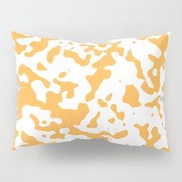 Spots - White and Pastel Orange Pillow Sham