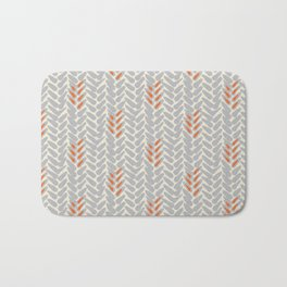 Orange and Grey Wheat Pattern Badematte