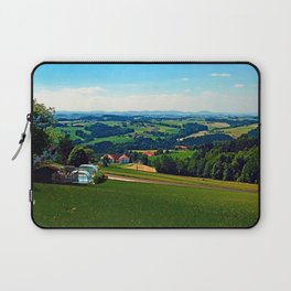 Condensation trail with some scenery Laptop Sleeve
