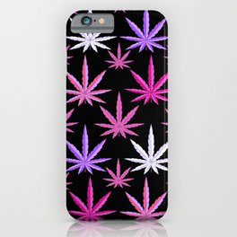 Weed Garden Pink Purple iPhone Case