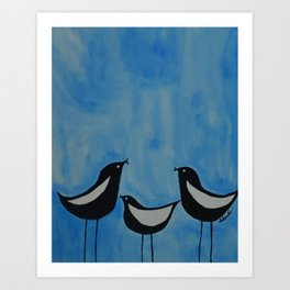 Chirping Birds Art Print