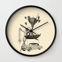 fig Wall Clocks featuring Fig.6. by TRASH RIOT