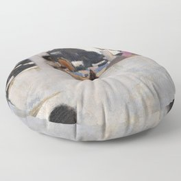 12,000pixel-500dpi - John Singer Sargent - Capri Girl on a Rooftop - Digital Remastered Edition Floor Pillow