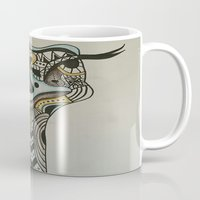 ostrich Mugs featuring ostrich by loomy