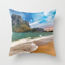 Ao Noi beach Thailand Throw Pillow