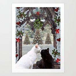 Christmas Kitties Art Print