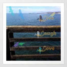 Live, Laugh, Love Art Print