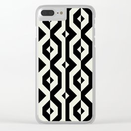 Modern bold print with diamond shapes Clear iPhone Case