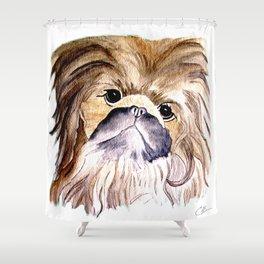 Pekingese love Dogs Shower Curtain