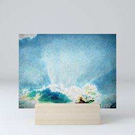 sky in a beautiful day - blue and peace Mini Art Print