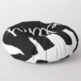 Hippo Love - Silhouette Floor Pillow