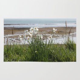 Flowers At The Seashore Rug