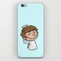cyrilliart iPhone & iPod Skins featuring Emoji Angel: Louis by Cyrilliart