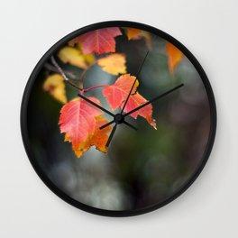 Autumn Red II Wall Clock
