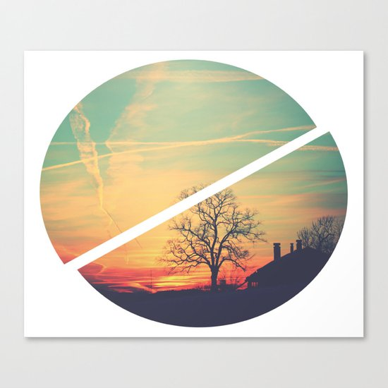 Colored Sky Canvas Print