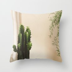 Cactus & Friend Throw Pillow