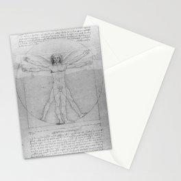 Leonardo da Vinci Vitruvian Man with Wings Study of Angels Stationery Cards