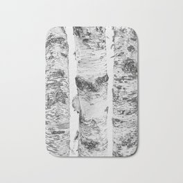 Birch Trees Landscape Photography | Black and White | black-and-white | bw Bath Mat