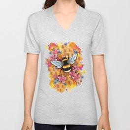 Neo Traditional Bee Unisex V-Neck