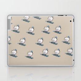 Long Board Chick Laptop & iPad Skin