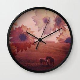 Floral daydreaming; gerberas Wall Clock