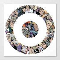 clint barton Canvas Prints featuring clint barton hawkguy bullseye by captainkittyspa