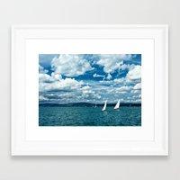 boats Framed Art Prints featuring Boats by Aleksandra Madejska
