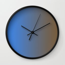 Brown and Blue Gradient 014 Wall Clock