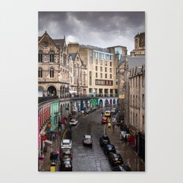 Victoria Street in Edinburgh, Scotland Canvas Print