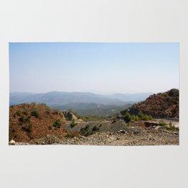The Winding Road of Datca Peninsula, Turkey Rug
