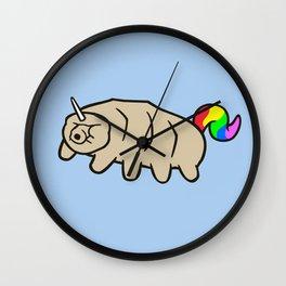 Tardicorn (Unicorn Tardigrade) Wall Clock