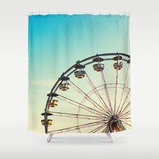 Vintage Ferris Wheel Shower Curtain