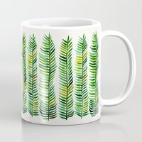 gold Mugs featuring Seaweed by Cat Coquillette