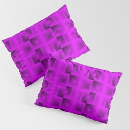 A grid of blackberry squares with black cores intersections and chaos of flares. Pillow Sham