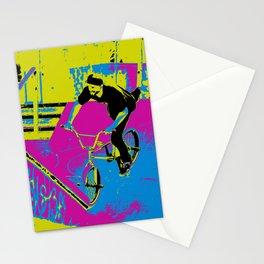 """Hitting the Ramp"" - BMX Biker Stationery Cards"