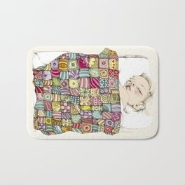 sleeping child Bath Mat